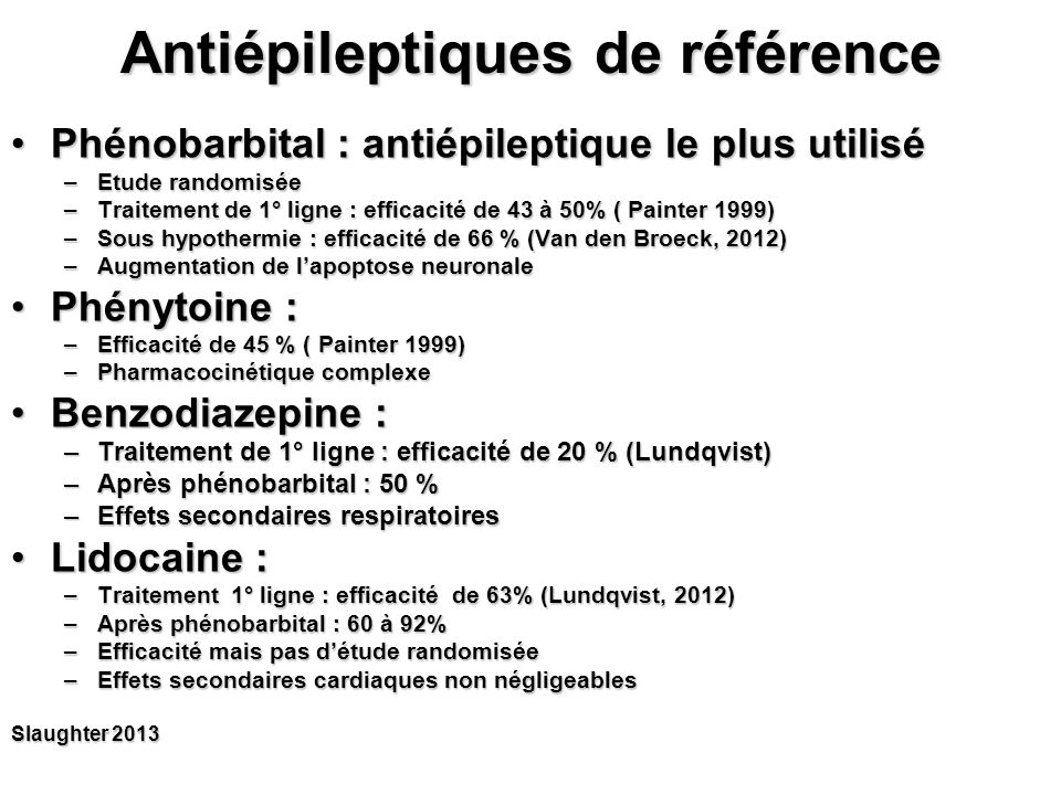 Antiépileptiques de référence