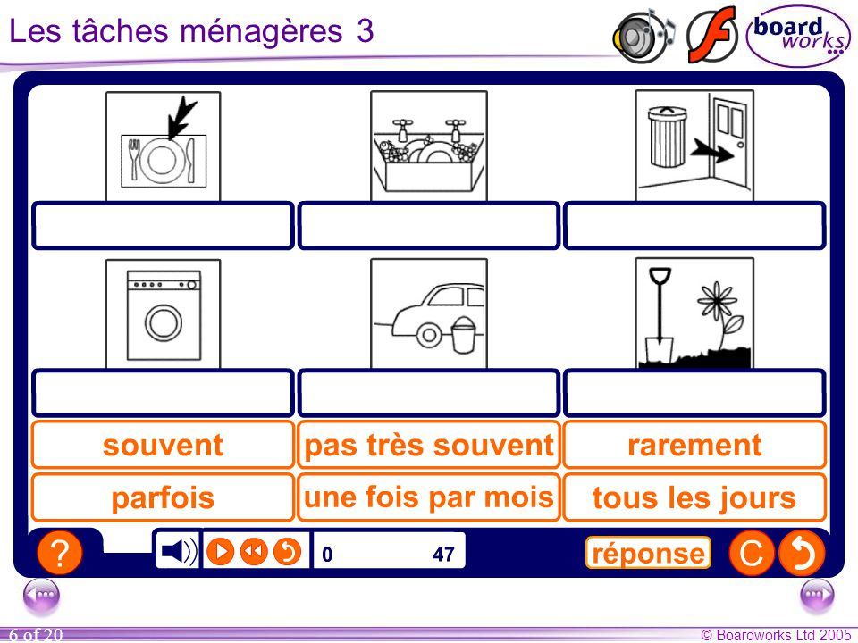 Les tâches ménagères 3 Transcript (answers underlined)