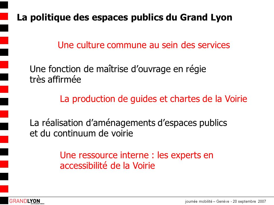 La politique des espaces publics du Grand Lyon