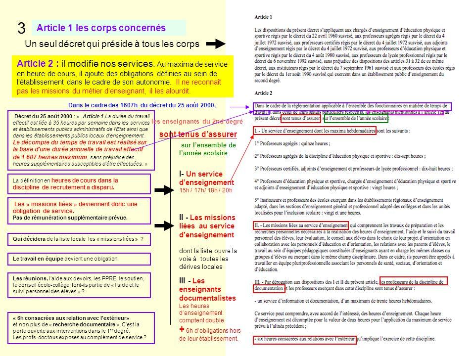 3 Article 1 les corps concernés
