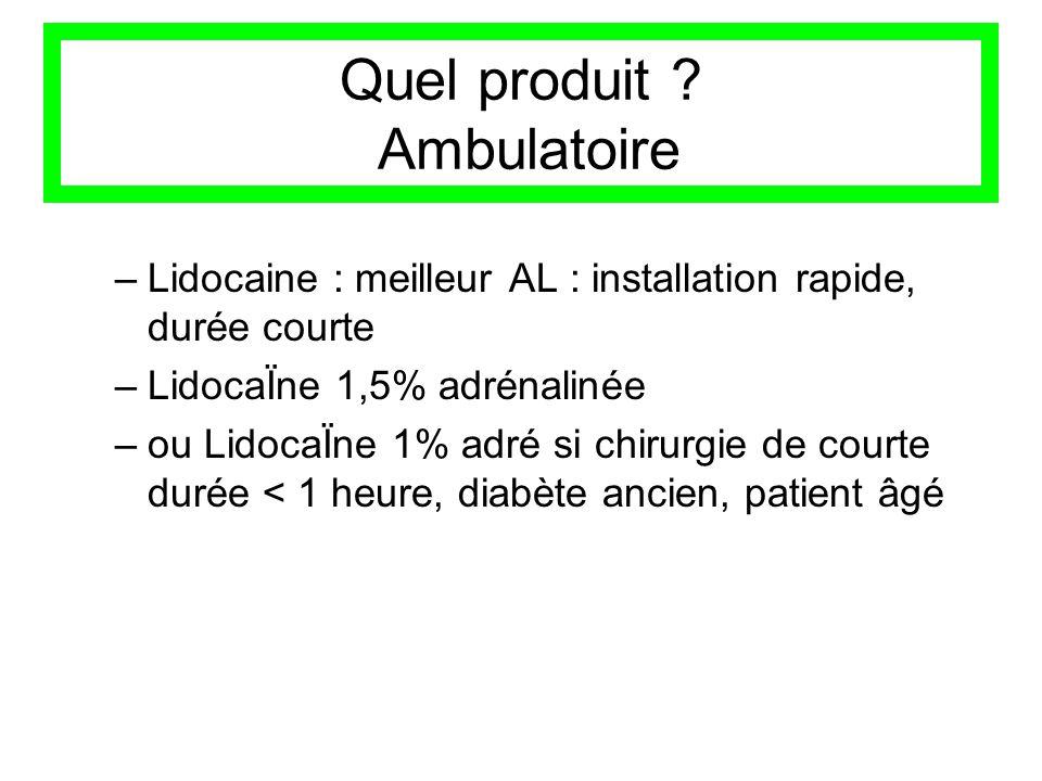 Quel produit Ambulatoire