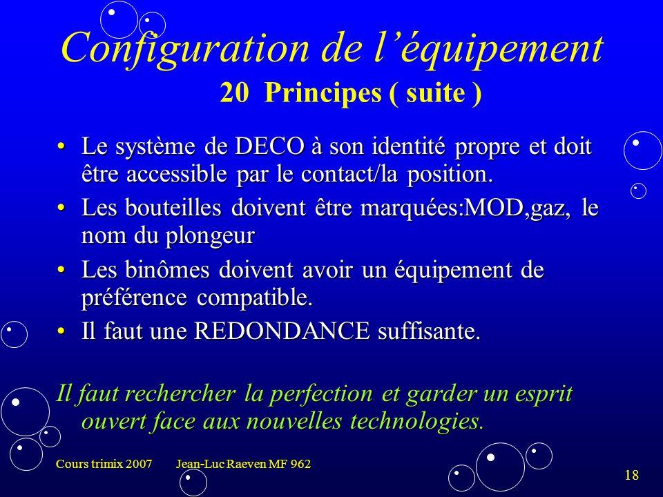 Configuration de l'équipement