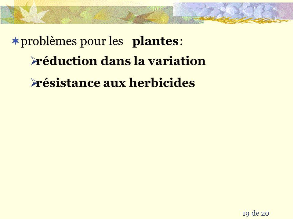 réduction dans la variation résistance aux herbicides