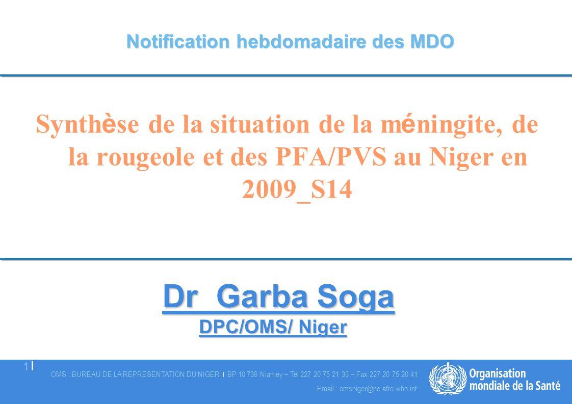 Notification hebdomadaire des MDO