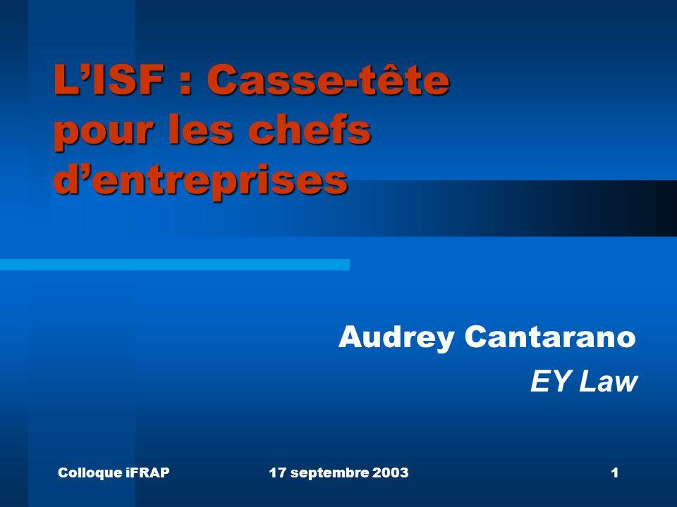 L'ISF : Casse-tête pour les chefs d'entreprises