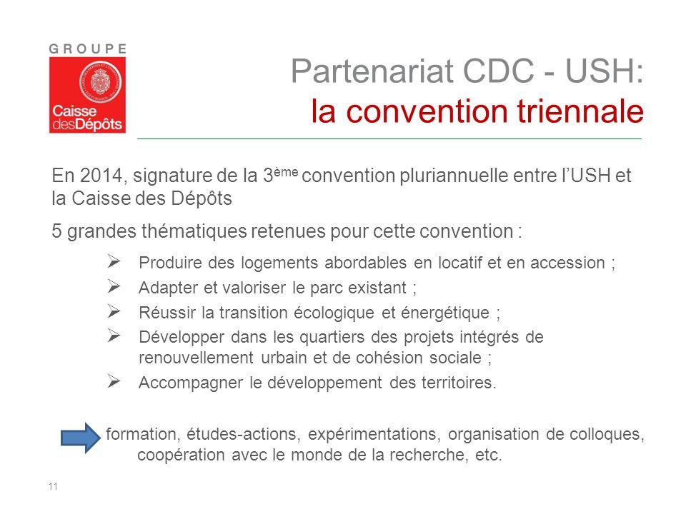 Partenariat CDC - USH: la convention triennale