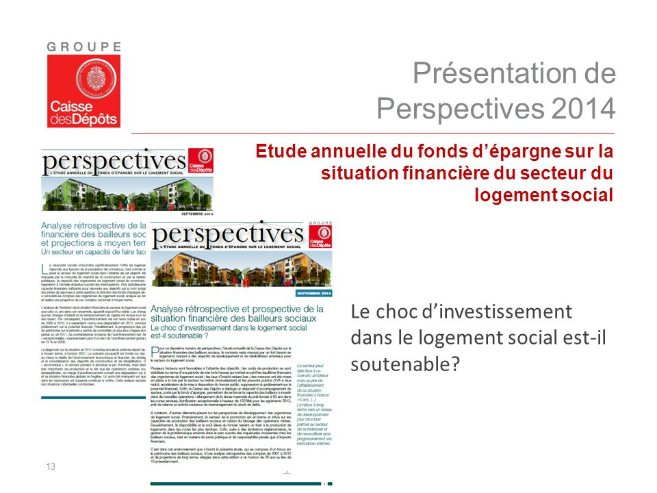 Présentation de Perspectives 2014