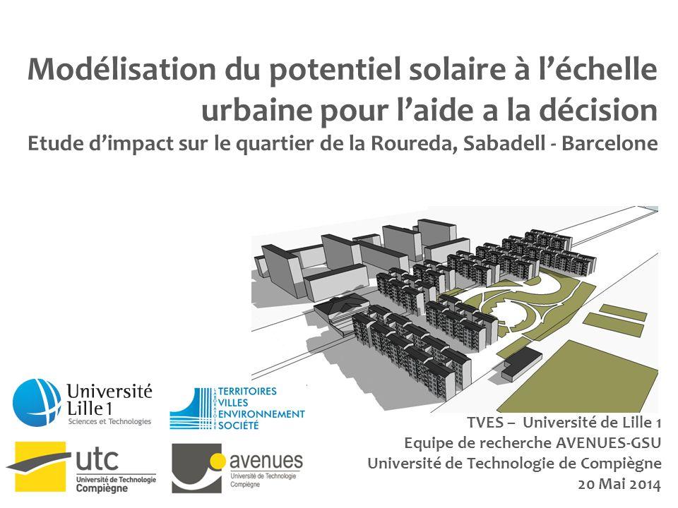 Modélisation du potentiel solaire à l'échelle urbaine pour l'aide a la décision