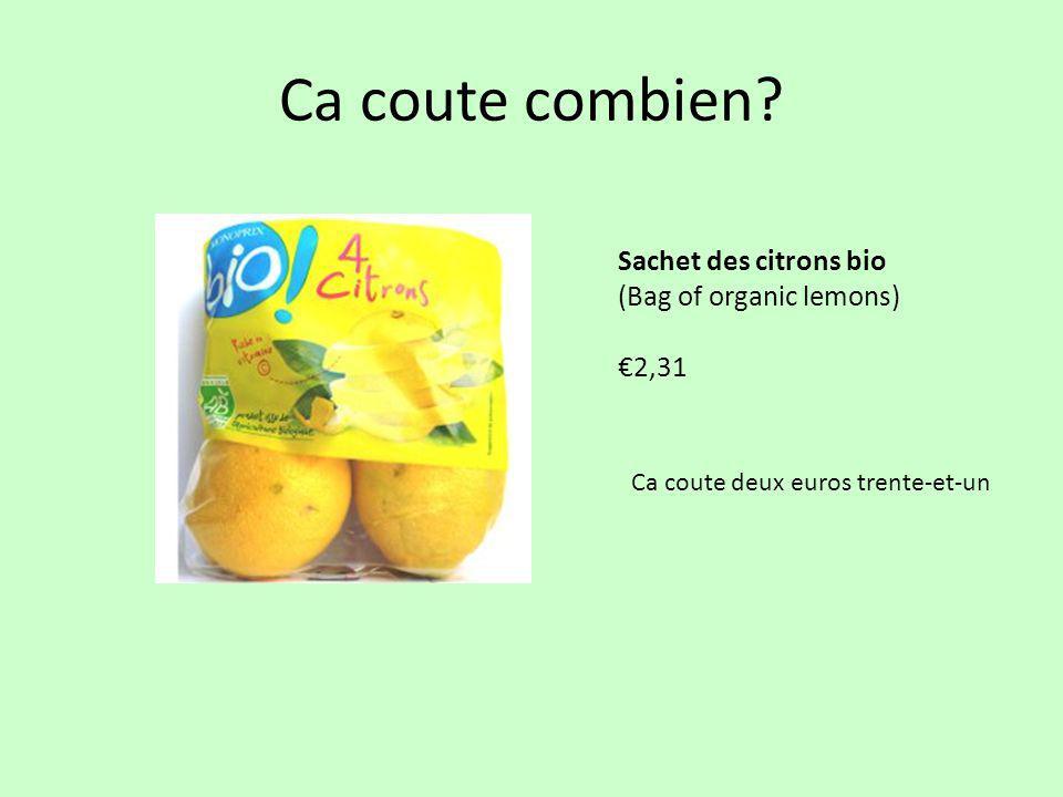 Ca coute combien Sachet des citrons bio (Bag of organic lemons) €2,31