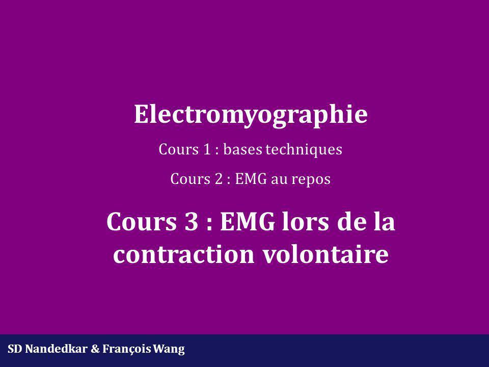 Cours 3 : EMG lors de la contraction volontaire