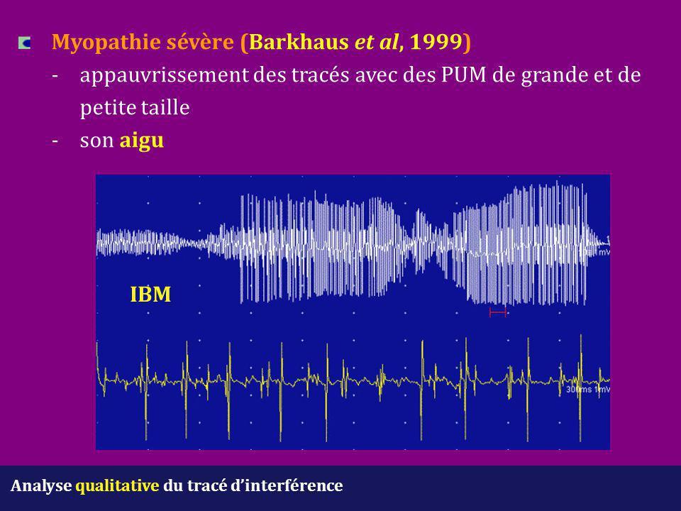 Myopathie sévère (Barkhaus et al, 1999). -