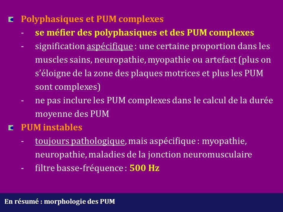 Polyphasiques et PUM complexes. -