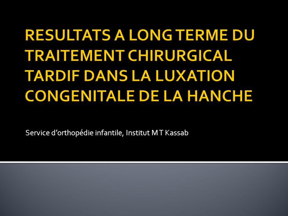 Service d'orthopédie infantile, Institut M T Kassab