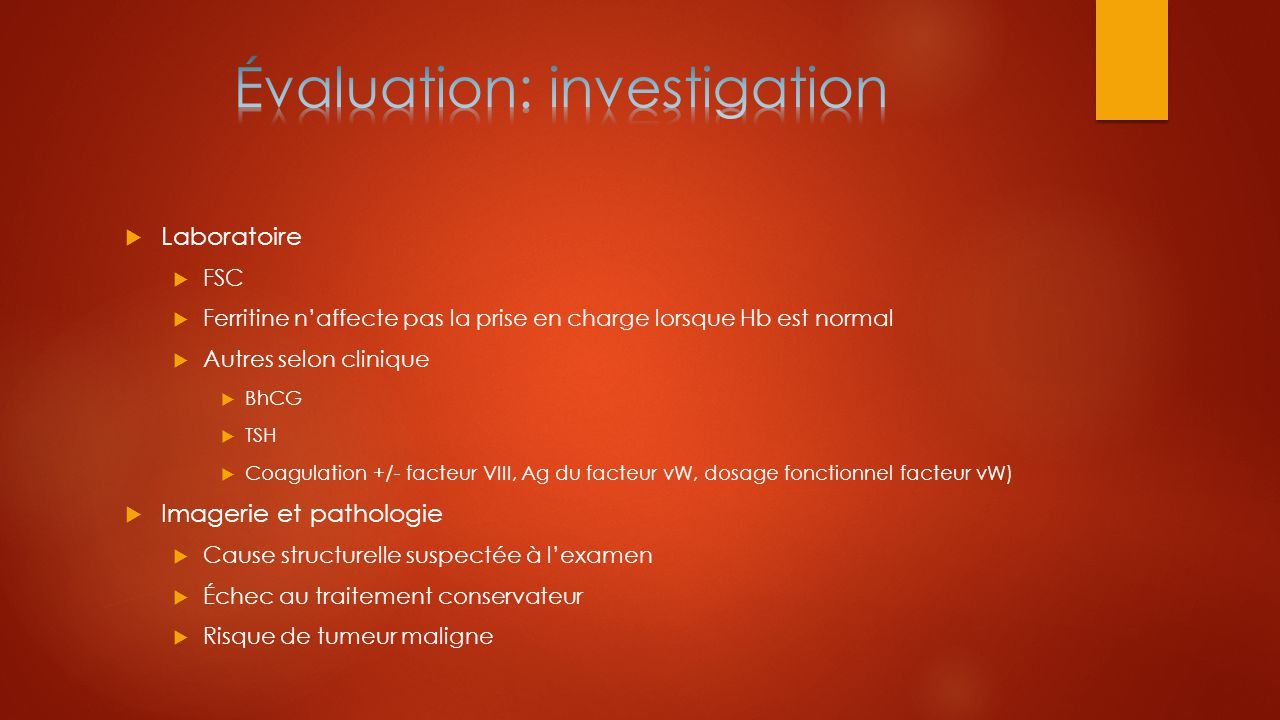 Évaluation: investigation