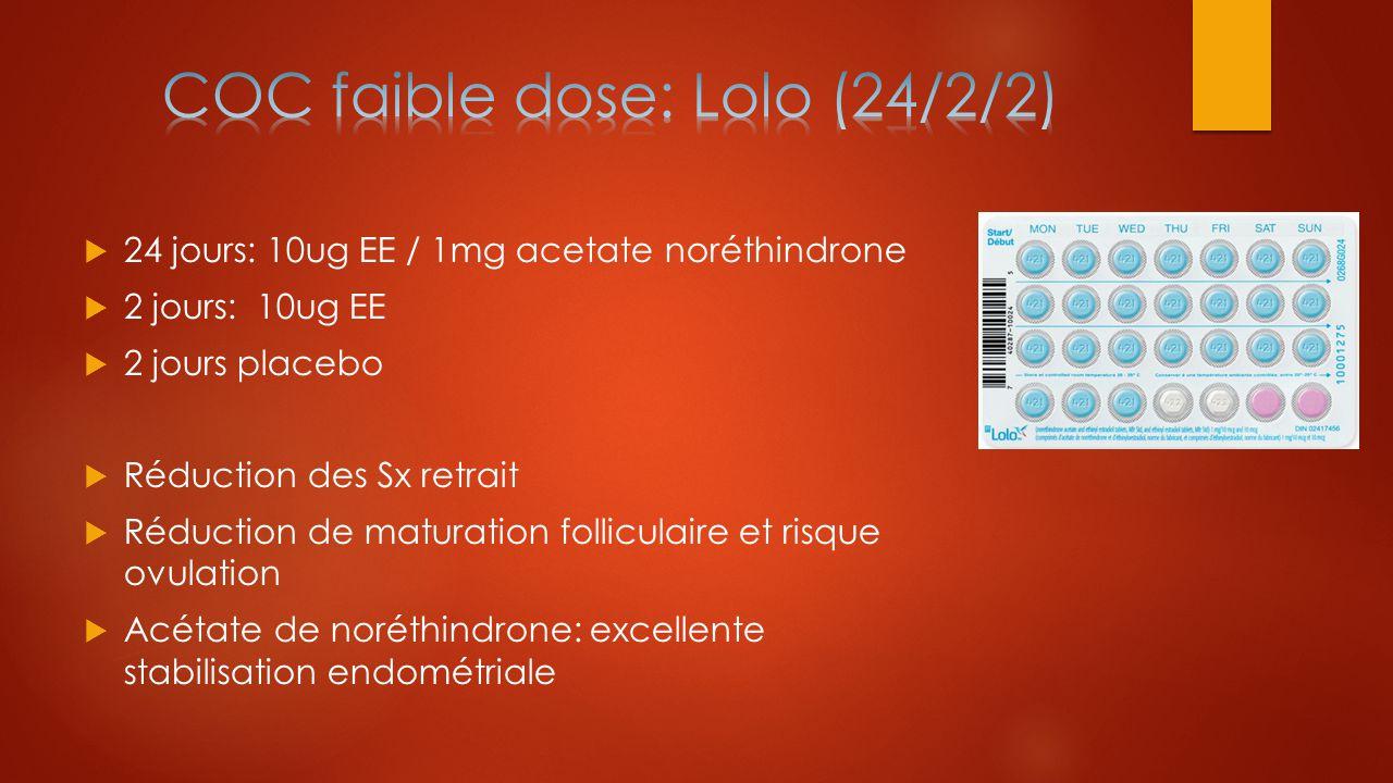 COC faible dose: Lolo (24/2/2)
