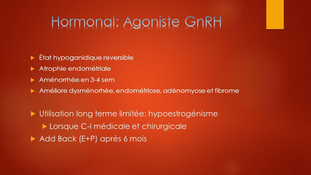 Hormonal: Agoniste GnRH