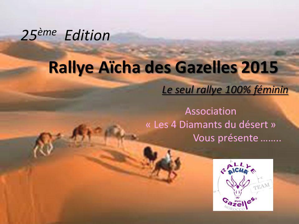 Rallye Aïcha des Gazelles 2015 Le seul rallye 100% féminin