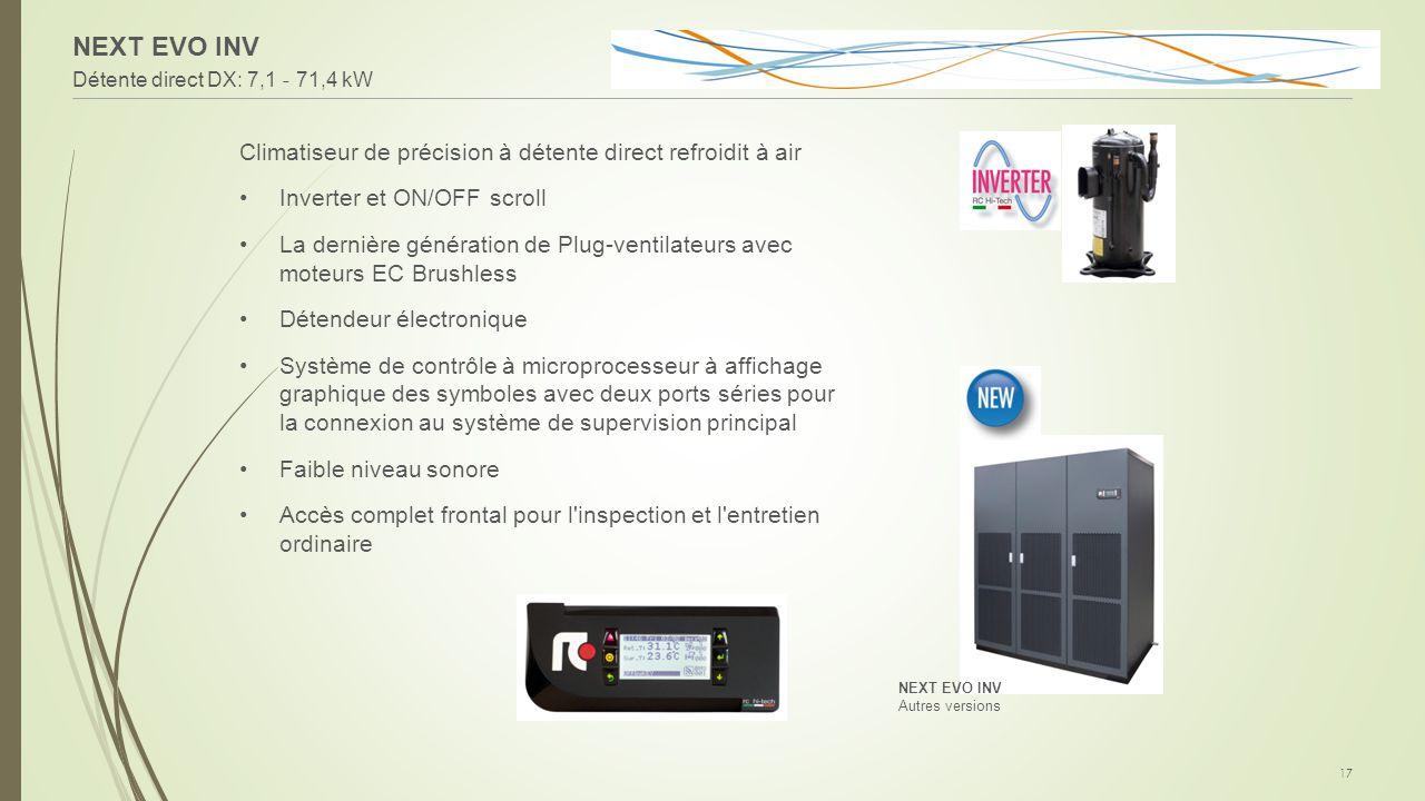 NEXT EVO INV Climatiseur de précision à détente direct refroidit à air