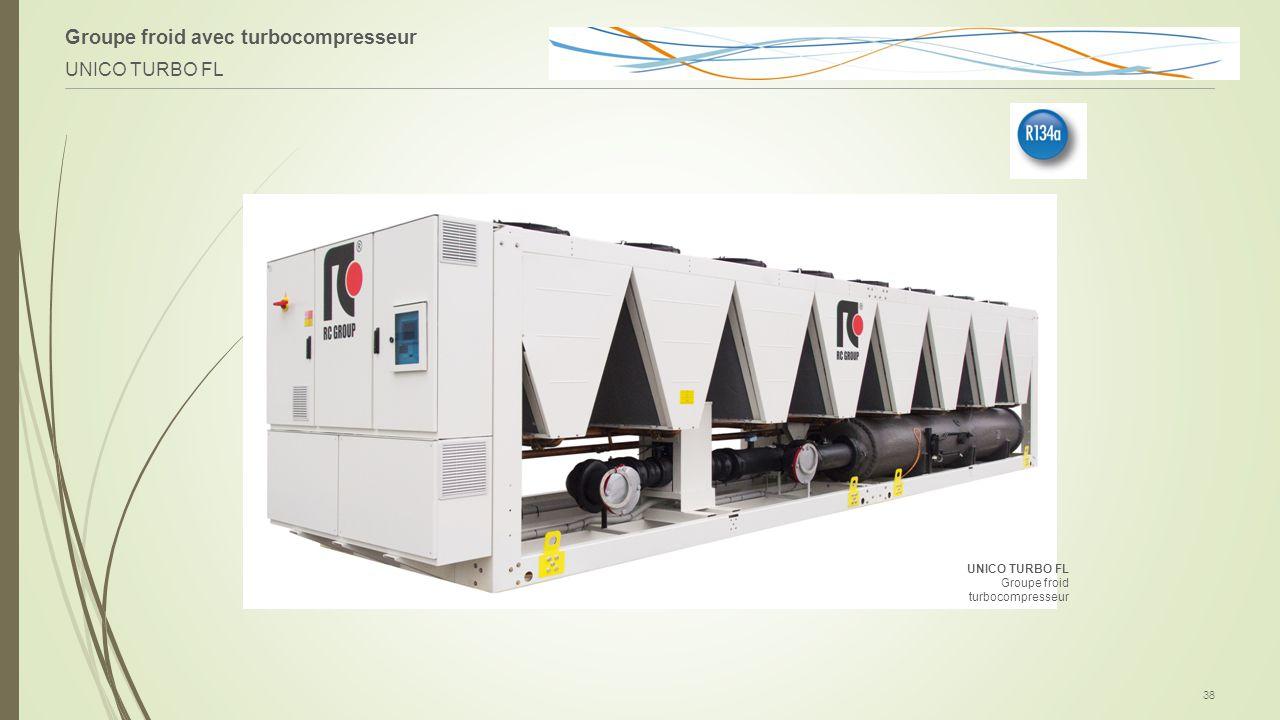 Groupe froid avec turbocompresseur