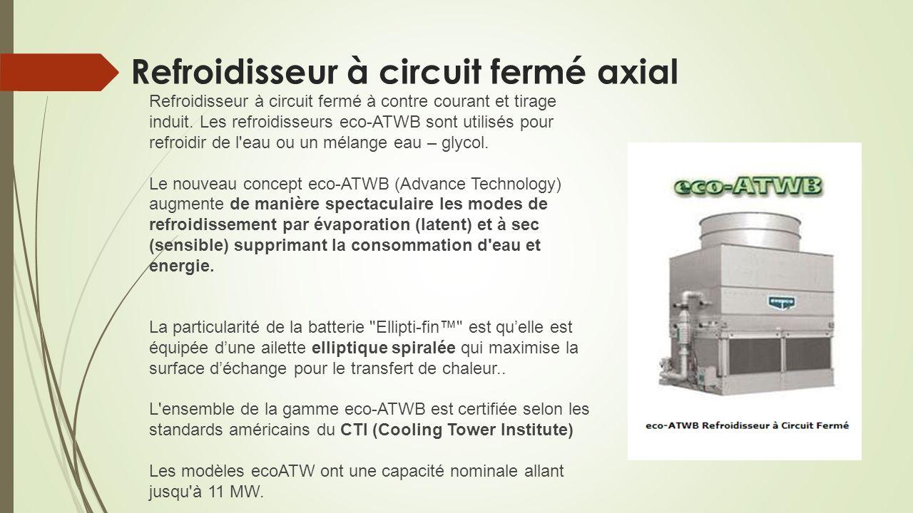 Refroidisseur à circuit fermé axial