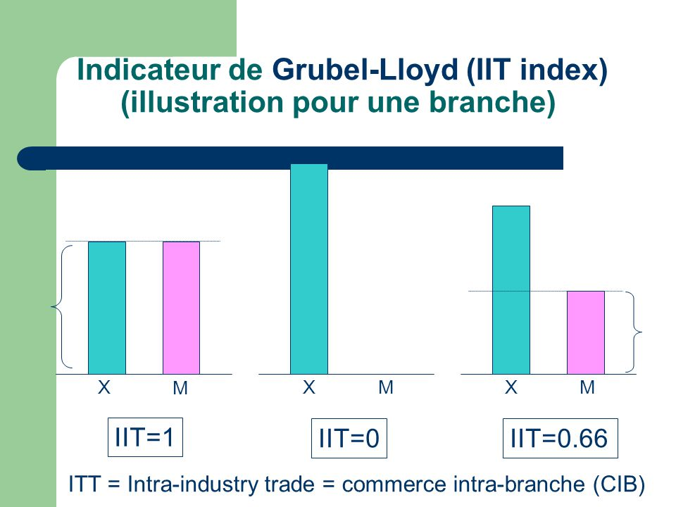 Indicateur de Grubel-Lloyd (IIT index) (illustration pour une branche)