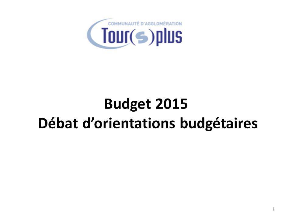 Budget 2015 Débat d'orientations budgétaires