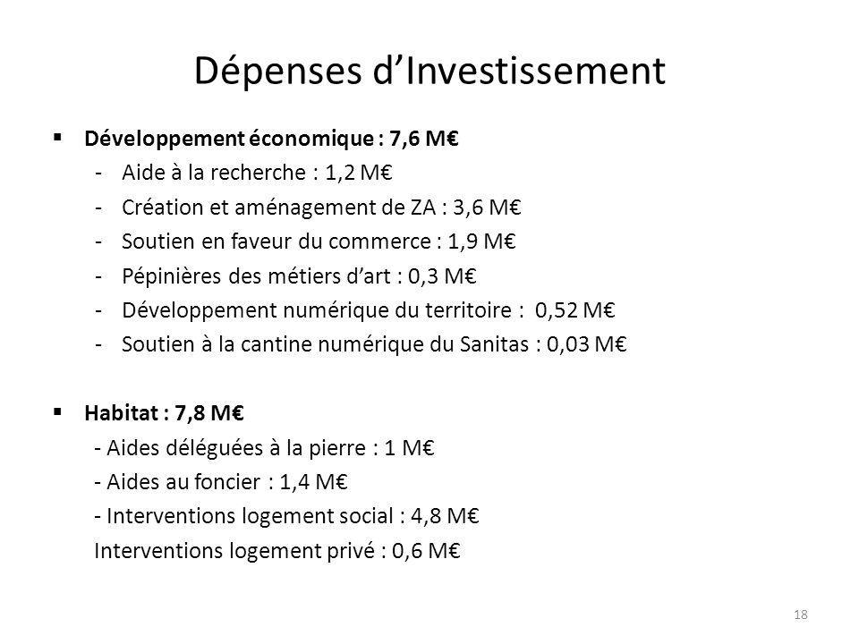 Dépenses d'Investissement