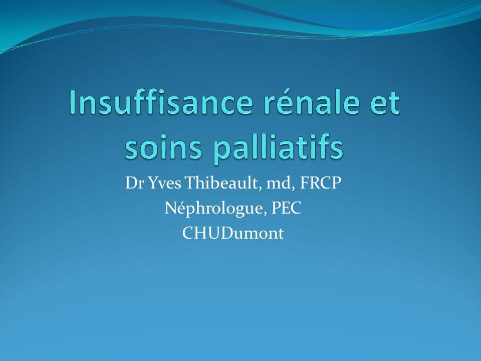 Insuffisance rénale et soins palliatifs