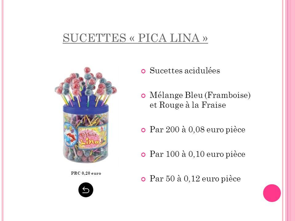 SUCETTES « PICA LINA » Sucettes acidulées