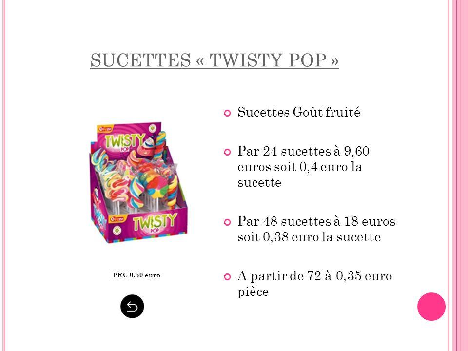 SUCETTES « TWISTY POP » Sucettes Goût fruité