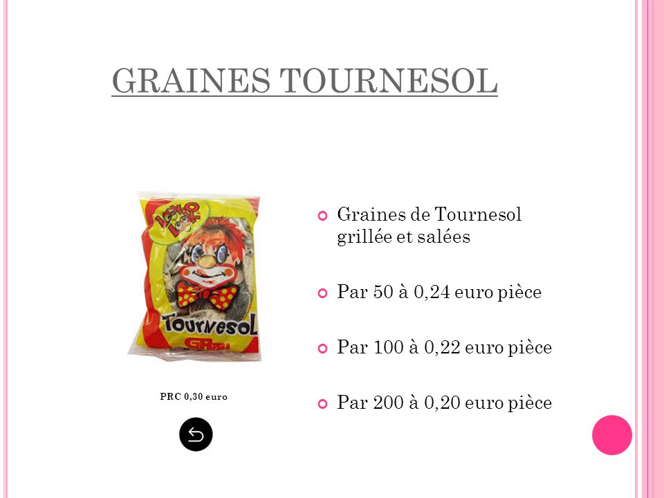 GRAINES TOURNESOL Graines de Tournesol grillée et salées