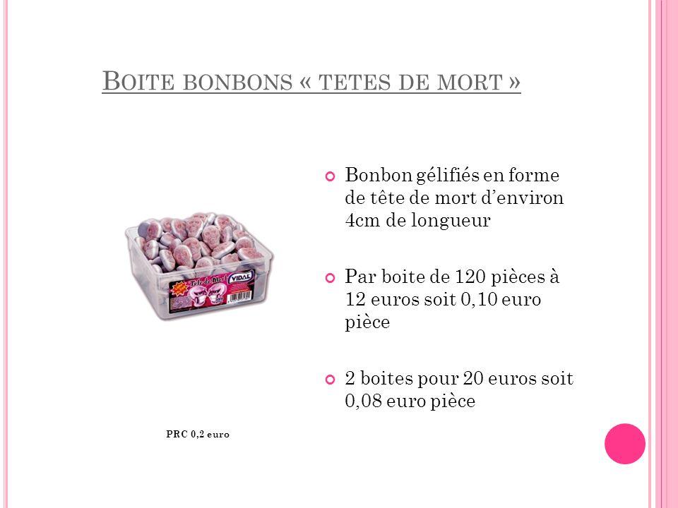 Boite bonbons « tetes de mort »