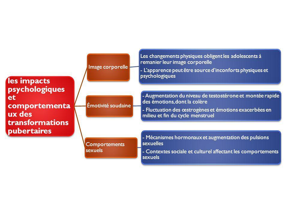les impacts psychologiques et comportementaux des transformations pubertaires