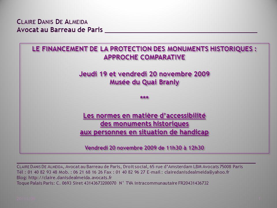 Jeudi 19 et vendredi 20 novembre 2009 Musée du Quai Branly ***
