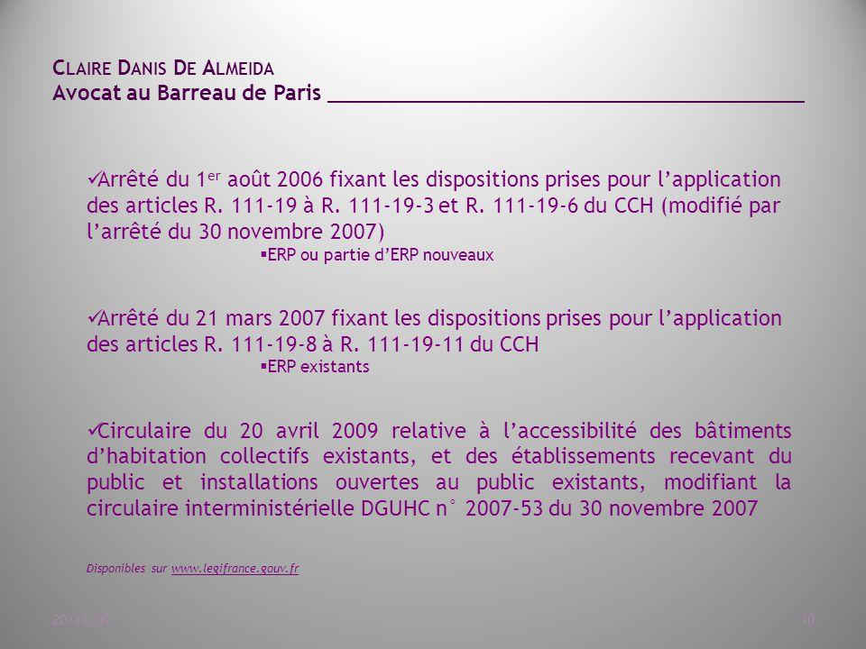 des articles R. 111-19 à R. 111-19-3 et R. 111-19-6 du CCH ...