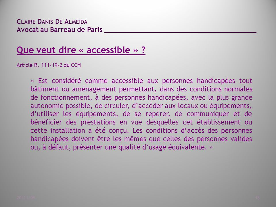 Que veut dire « accessible »