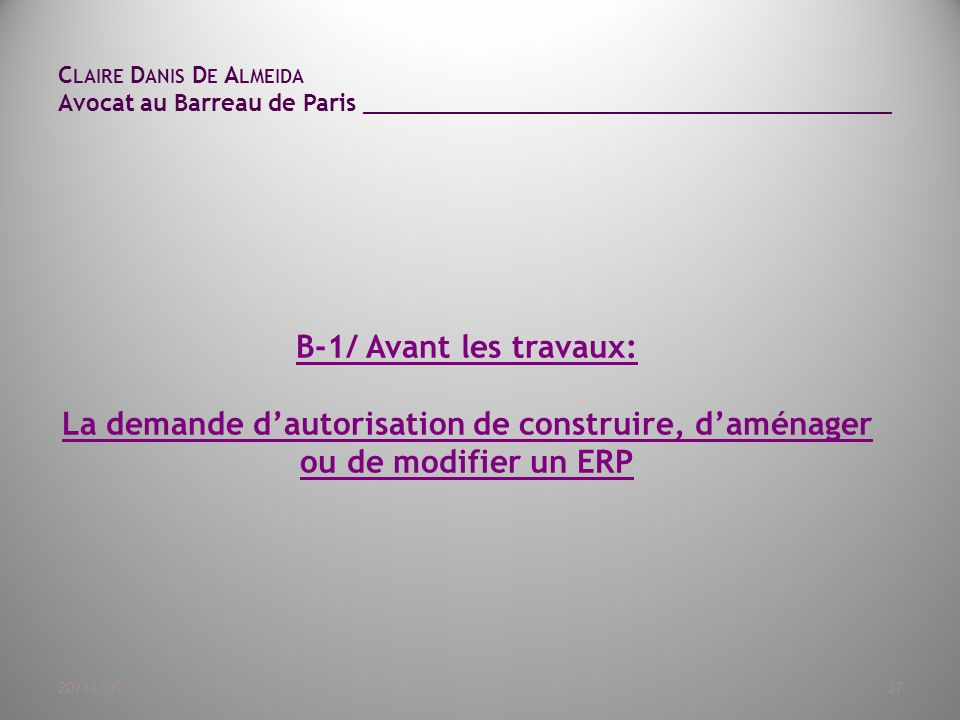 Claire Danis De Almeida Avocat au Barreau de Paris ______________________________________