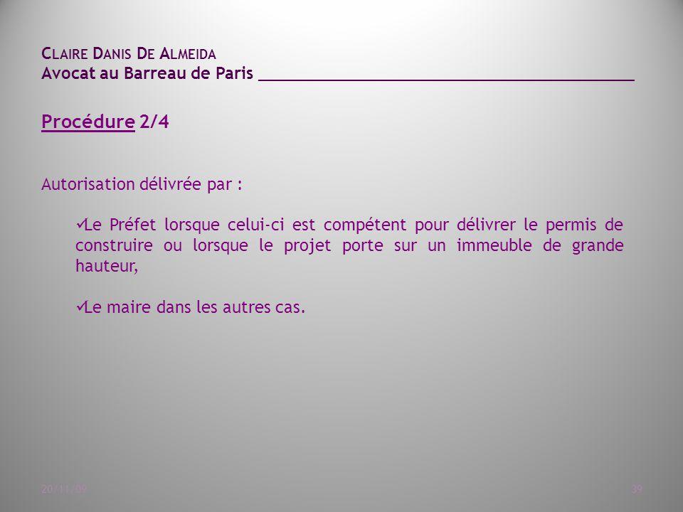 Procédure 2/4 Autorisation délivrée par :