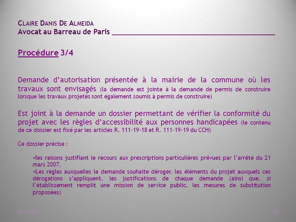 ... 111-19-18 et R. 111-19-19 du CCH) Ce dossier précise : les raisons
