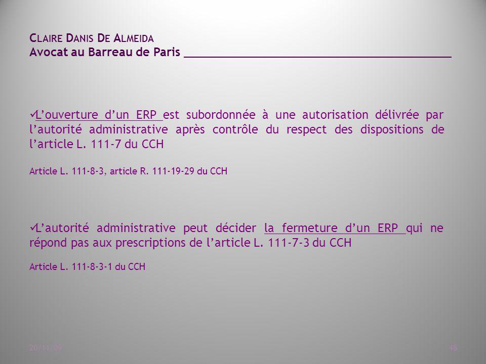 111-7 du CCH. Article L. 111-8-3, article R. 111-19-29 du CCH ...