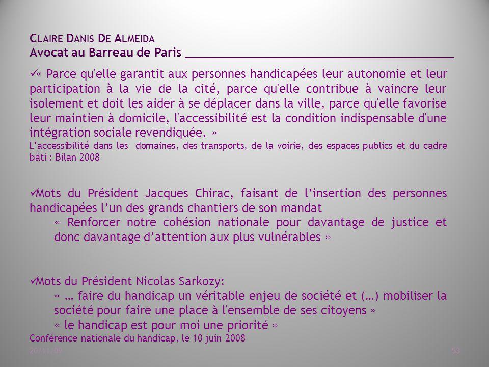 Mots du Président Nicolas Sarkozy: