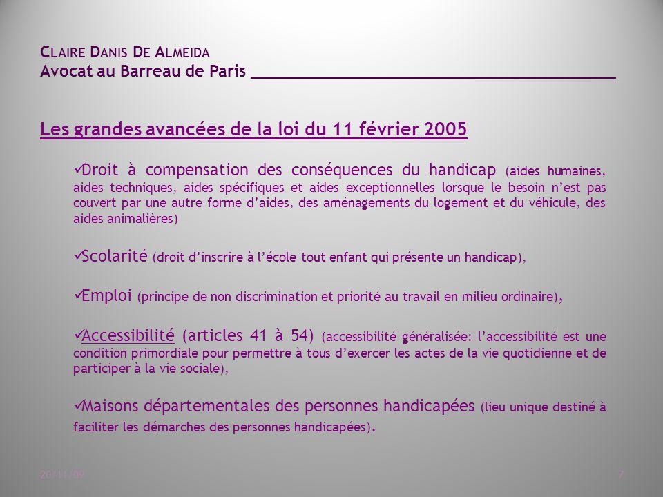 Les grandes avancées de la loi du 11 février 2005