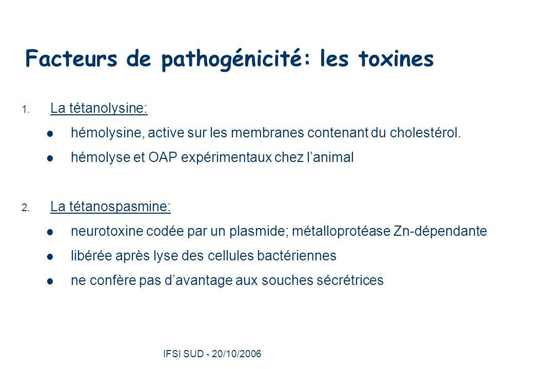 Facteurs de pathogénicité: les toxines