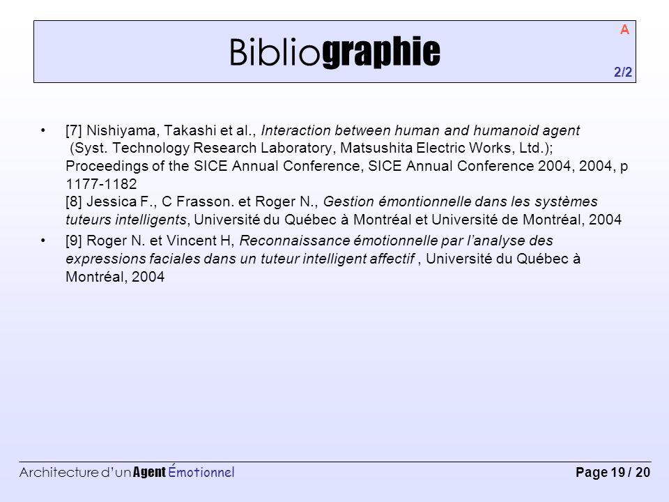 Bibliographie A. 2/2.