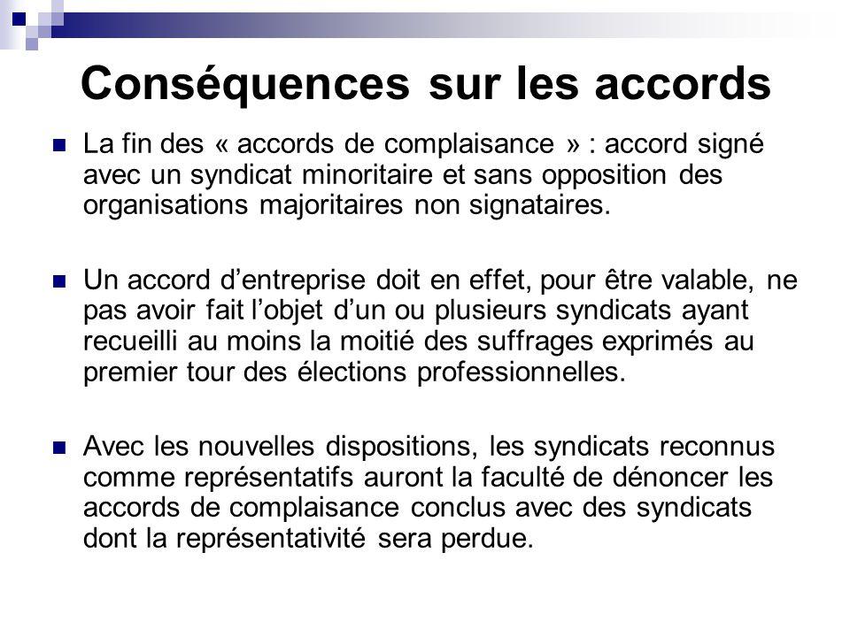 Conséquences sur les accords