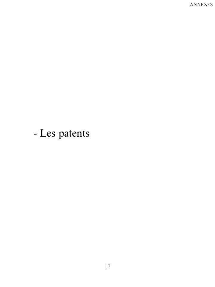 ANNEXES - Les patents 17