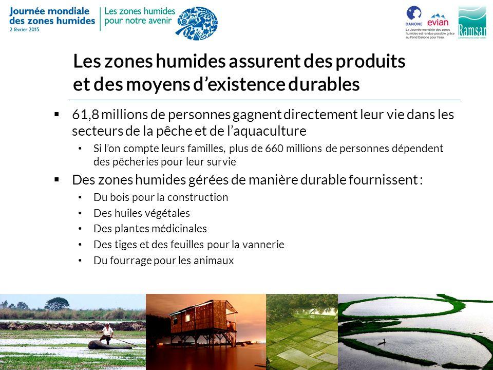 Les zones humides assurent des produits et des moyens d'existence durables