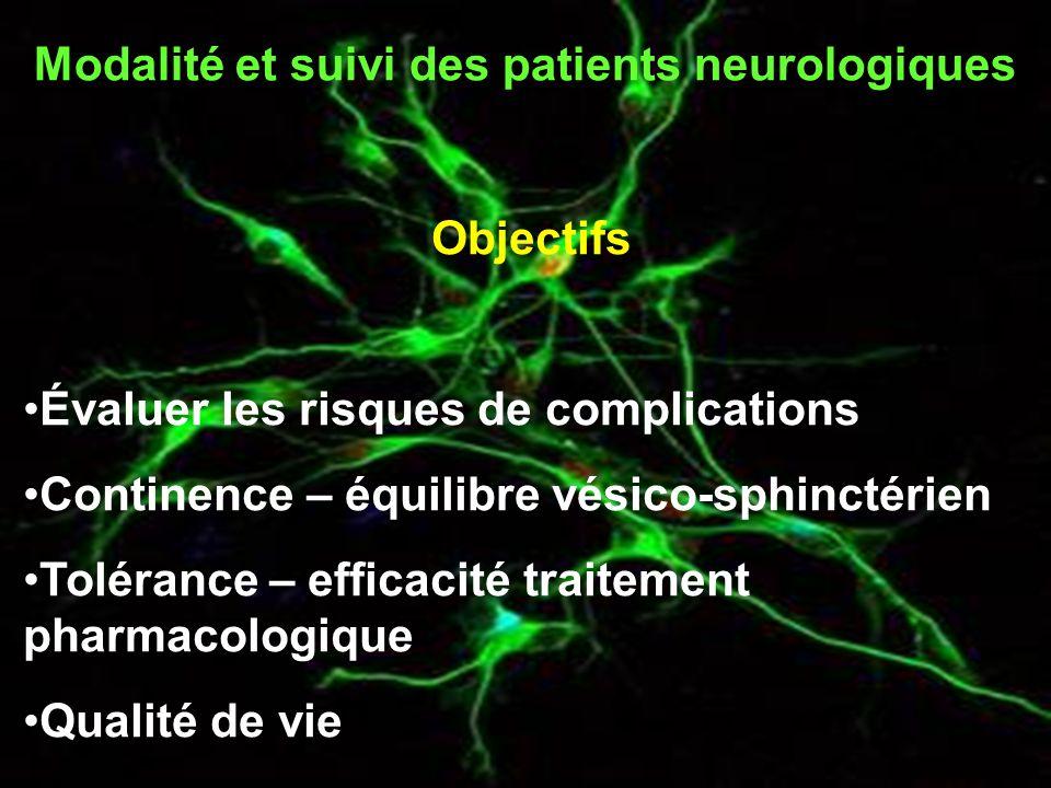 Modalité et suivi des patients neurologiques