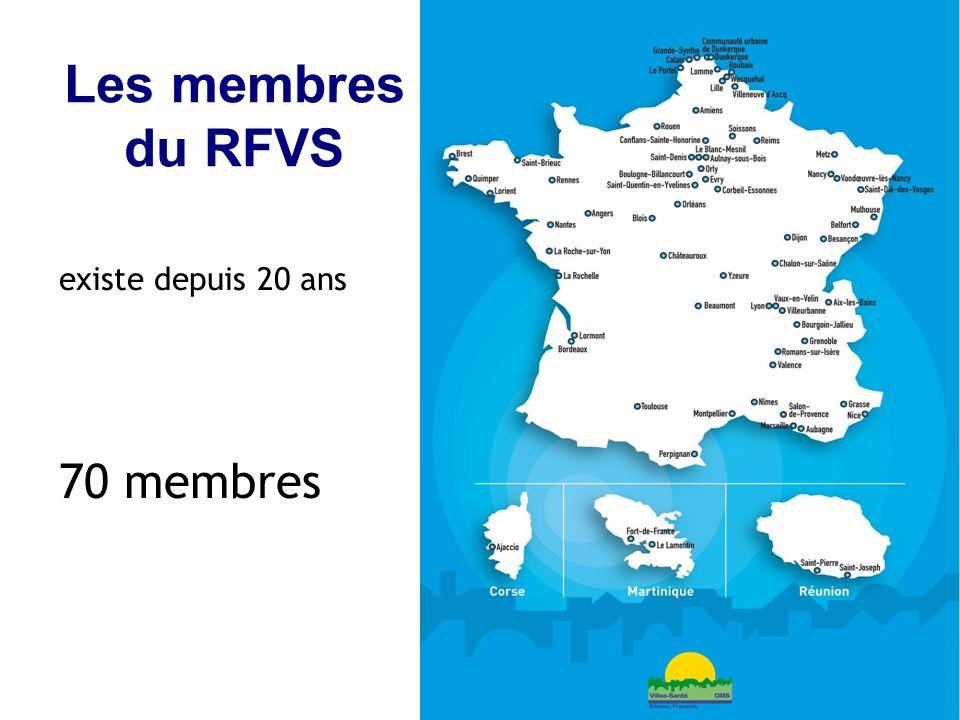 Les membres du RFVS existe depuis 20 ans 70 membres 5 5