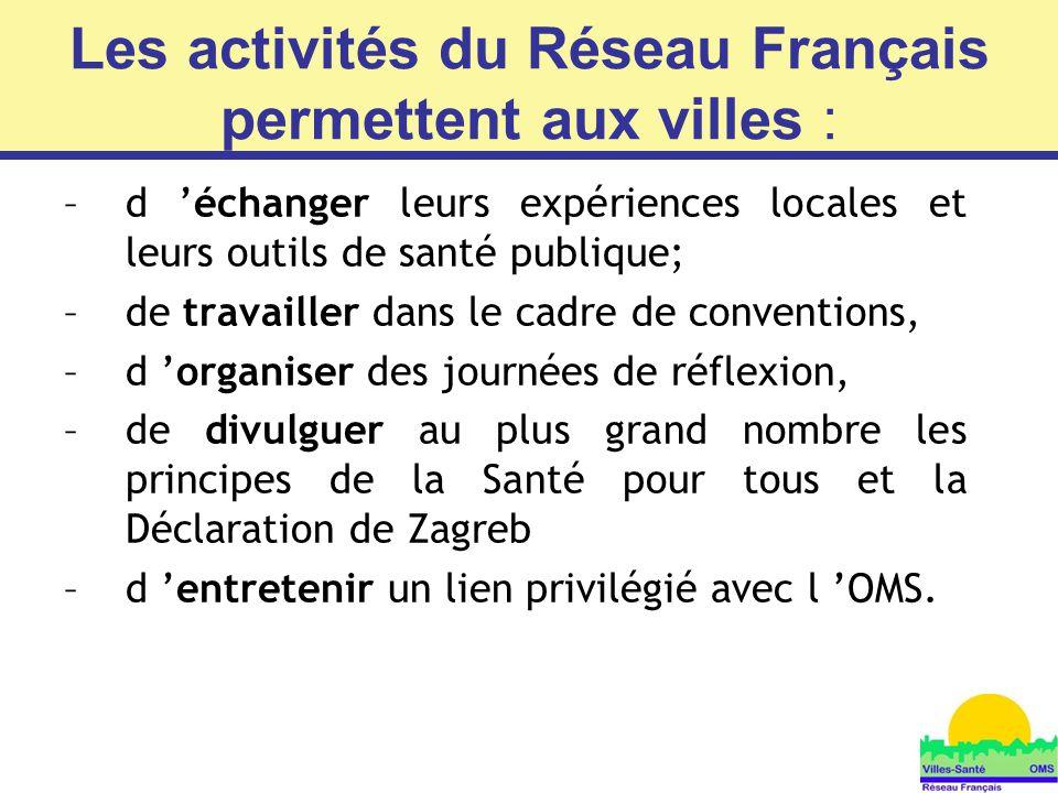 Les activités du Réseau Français permettent aux villes :